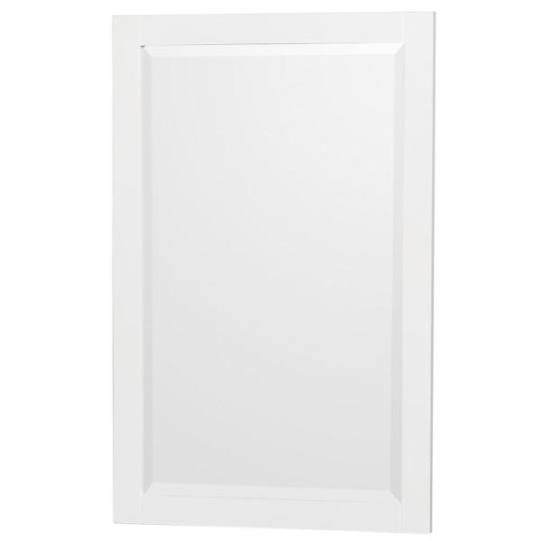 Acclaim 24 in. W x 36 in. H Framed Rectangular Bathroom Vanity Mirror in White
