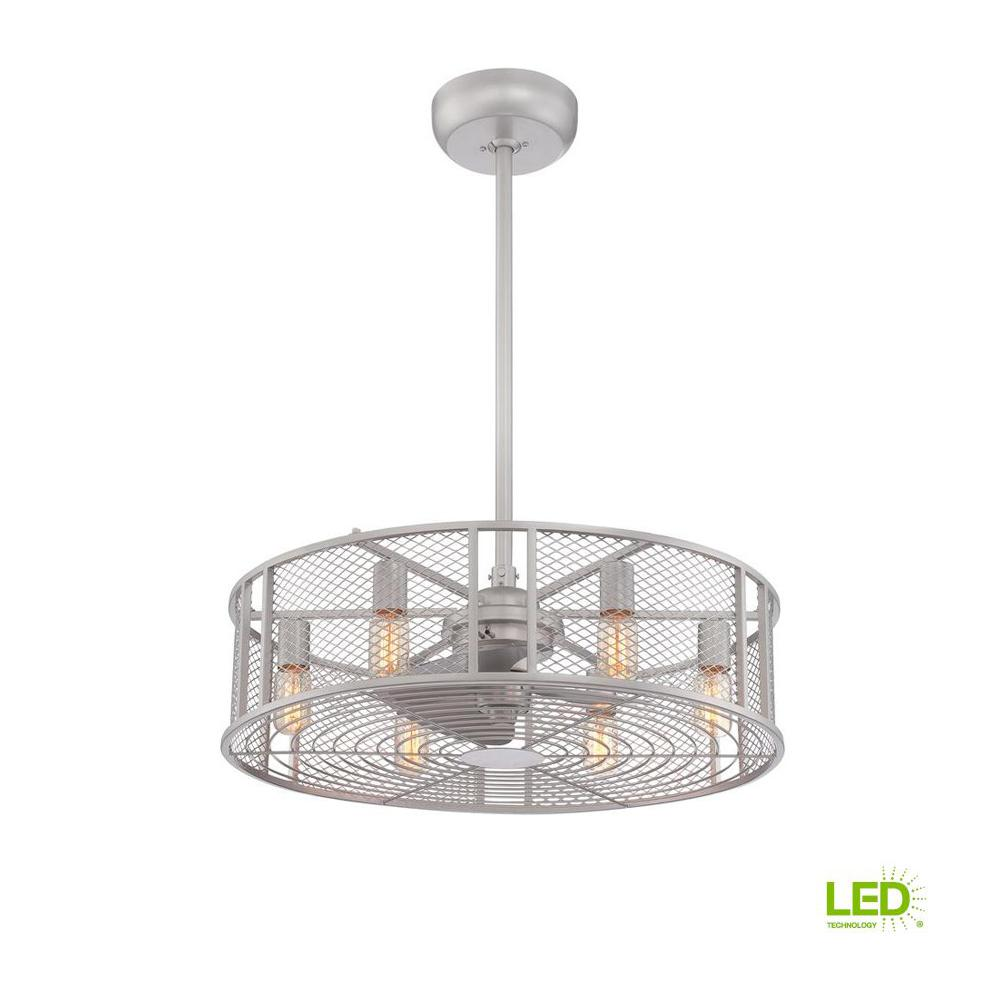 World Imports Boyd Collection 26 in. LED Indoor Platinum Ceiling Fan with Remote Control