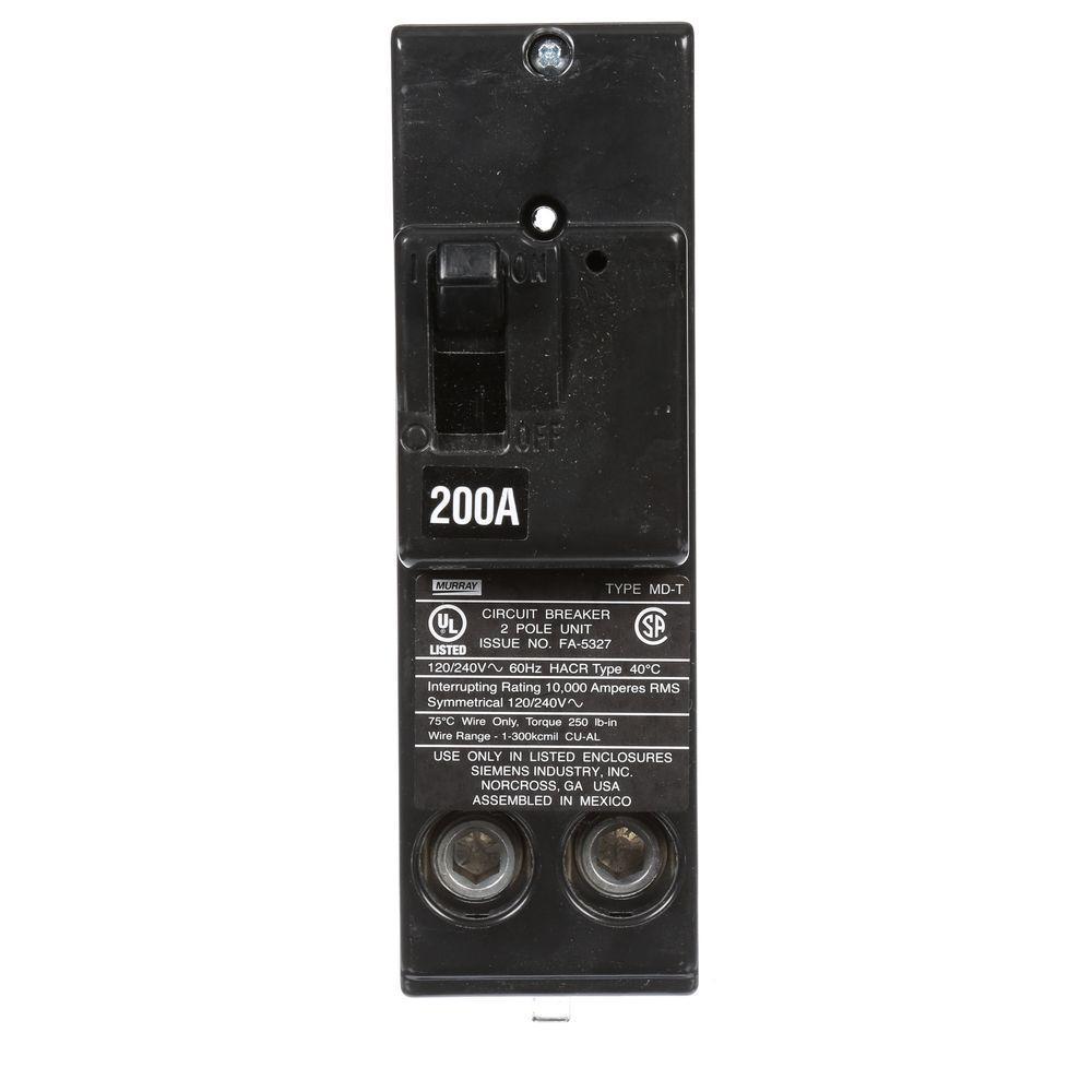 200 Amp Double-Pole 10 kA Type MD-T Circuit Breaker