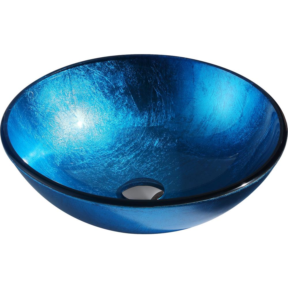 ANZZI Arc Series Deco-Glass Vessel Sink in Lustrous Light Blue was $144.99 now $115.99 (20.0% off)