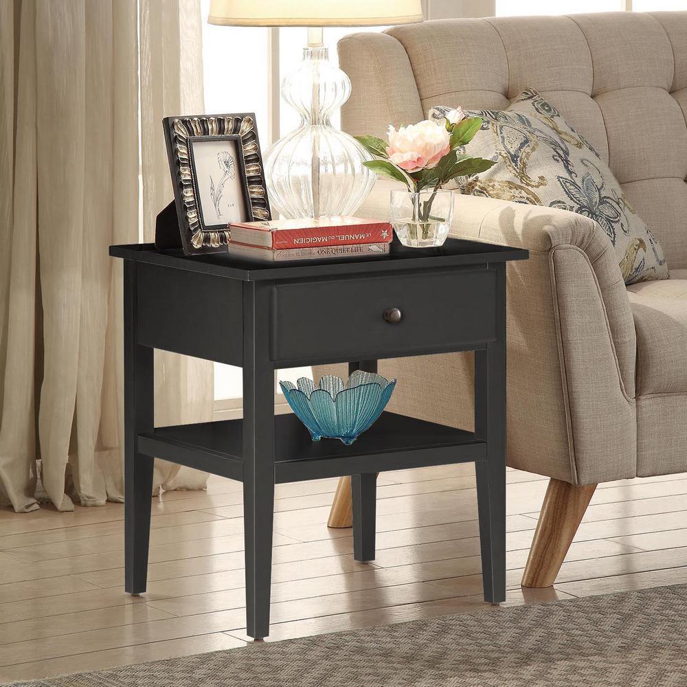 Usl Arbor Black Side Table