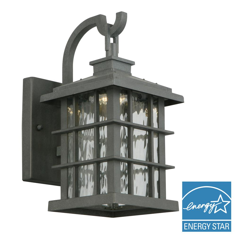 Wrought iron outdoor wall mounted lighting outdoor lighting summit ridge collection zinc outdoor integrated led small wall mount lantern mozeypictures Choice Image