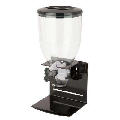 Pro Edition Single Dry Food Dispenser in Black