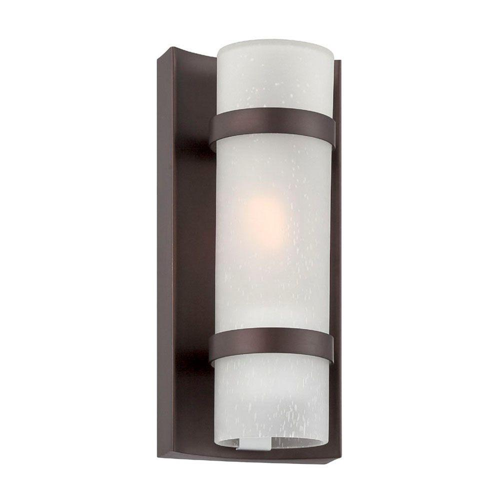 Apollo Collection 1 Light Architectural Bronze Outdoor Wall Mount
