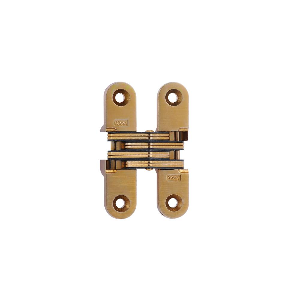 Soss 5 8 In X 2 3 4 In Satin Brass Invisible Hinge