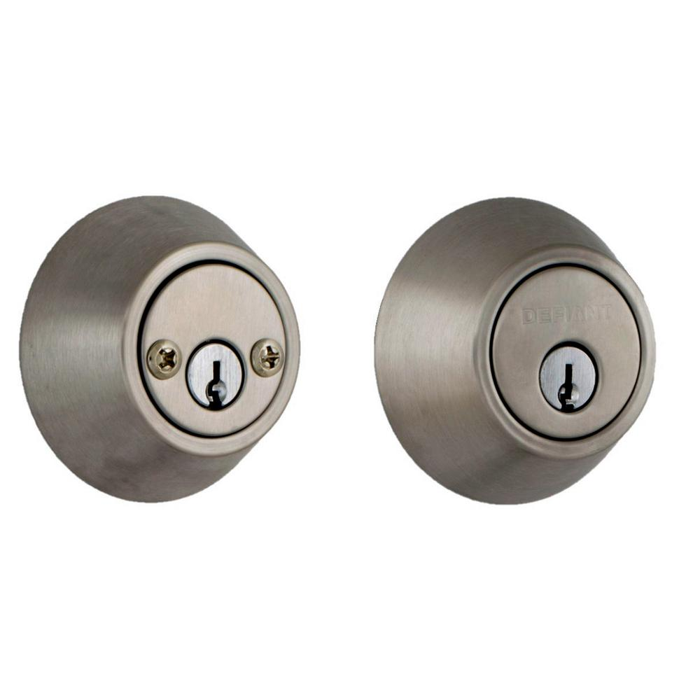 Defiant Double Cylinder Satin Nickel Deadbolt Dlx22 The