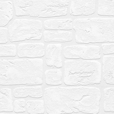 Stone Wall Paintable Wallpaper Vinyl Strippable Roll Wallpaper (Covers 56 sq. ft.)