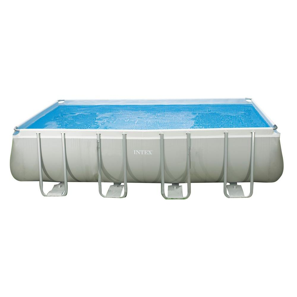 Intex 18 ft x 9 ft x 52 in rectangular ultra frame pool - Intex easy set pool 18 x 52 ...
