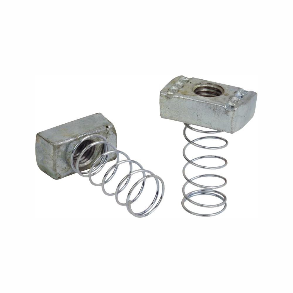 10 Pcs Zinc Plated Steel No Spring Nut For 1//4-20 Rod As Quick /& Easy Way to Hang Or Mount Multiple Products From Single Strut Channel
