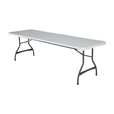 White 4-Pack Stacking Folding Table