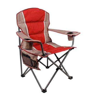 Red Oversize Folding Chair