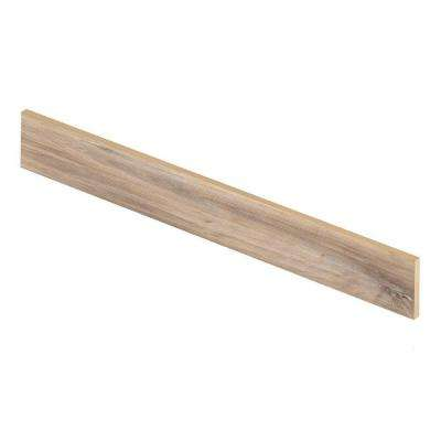 Easy Oak 94 in. Length x 1/2 in. Deep x 7-3/8 in. Height Vinyl Riser to be Used with Cap A Tread