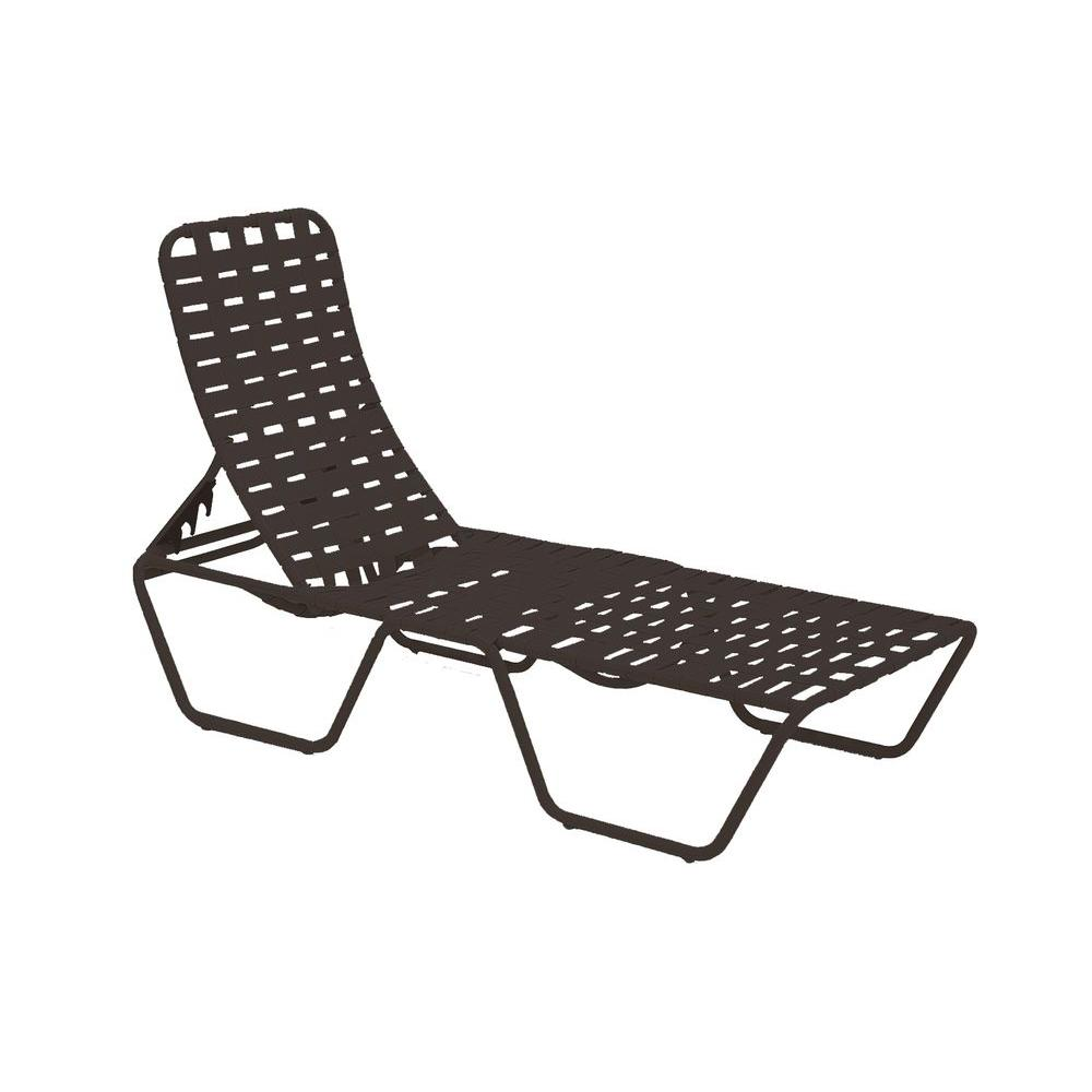 Tradewinds lido crossweave contract java patio chaise for Chaise longue jardin brico depot