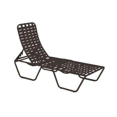 Lido Crossweave Contract Java Patio Chaise Lounge