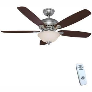 Southwind 52 in. LED Indoor Brushed Nickel Ceiling Fan with Light Kit and Remote Control
