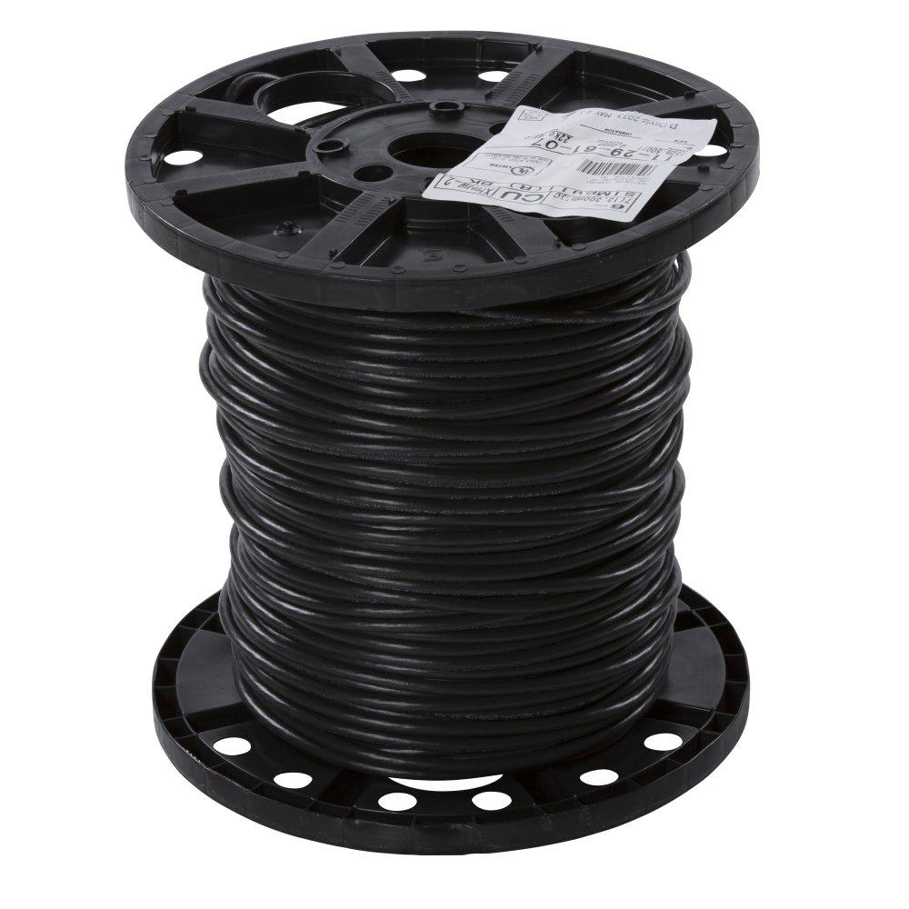 southwire 500 ft 6 black stranded xhhw wire 11296107 the home depot