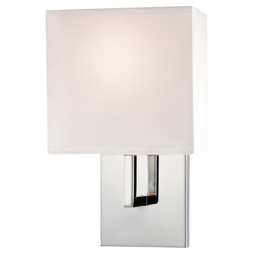 1-Light Chrome Wall Sconce