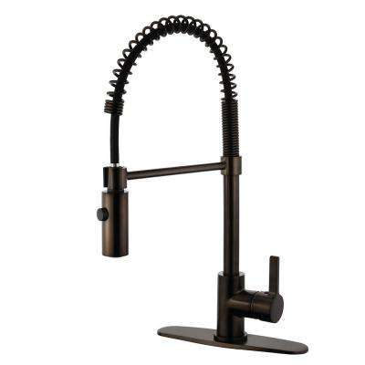 Continental Single-Handle Pull-Down Sprayer Kitchen Faucet in Oil Rubbed Bronze