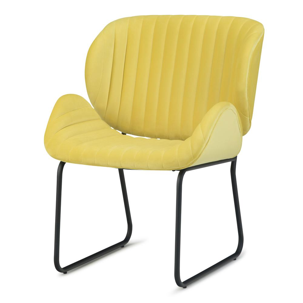 012ab457fda1 Simpli Home Rivley 24 in. Wide Mid Century Modern Accent Chair in ...