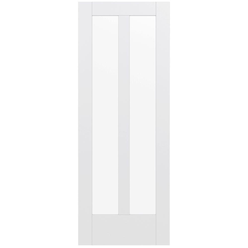 Jeld Wen 36 In X 80 In Moda Primed Pmt1044 Solid Core Wood Interior Door Slab W Translucent