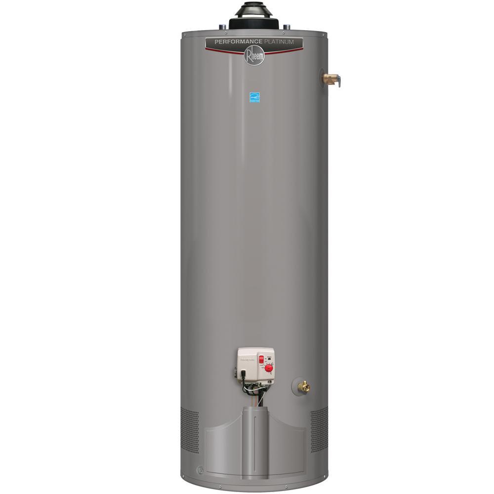 Rheem Performance Platinum 40 Gal. Tall 12-Year 38,000 BTU Ultra Low NOx (ULN) Natural Gas Power Damper Tank Water Heater