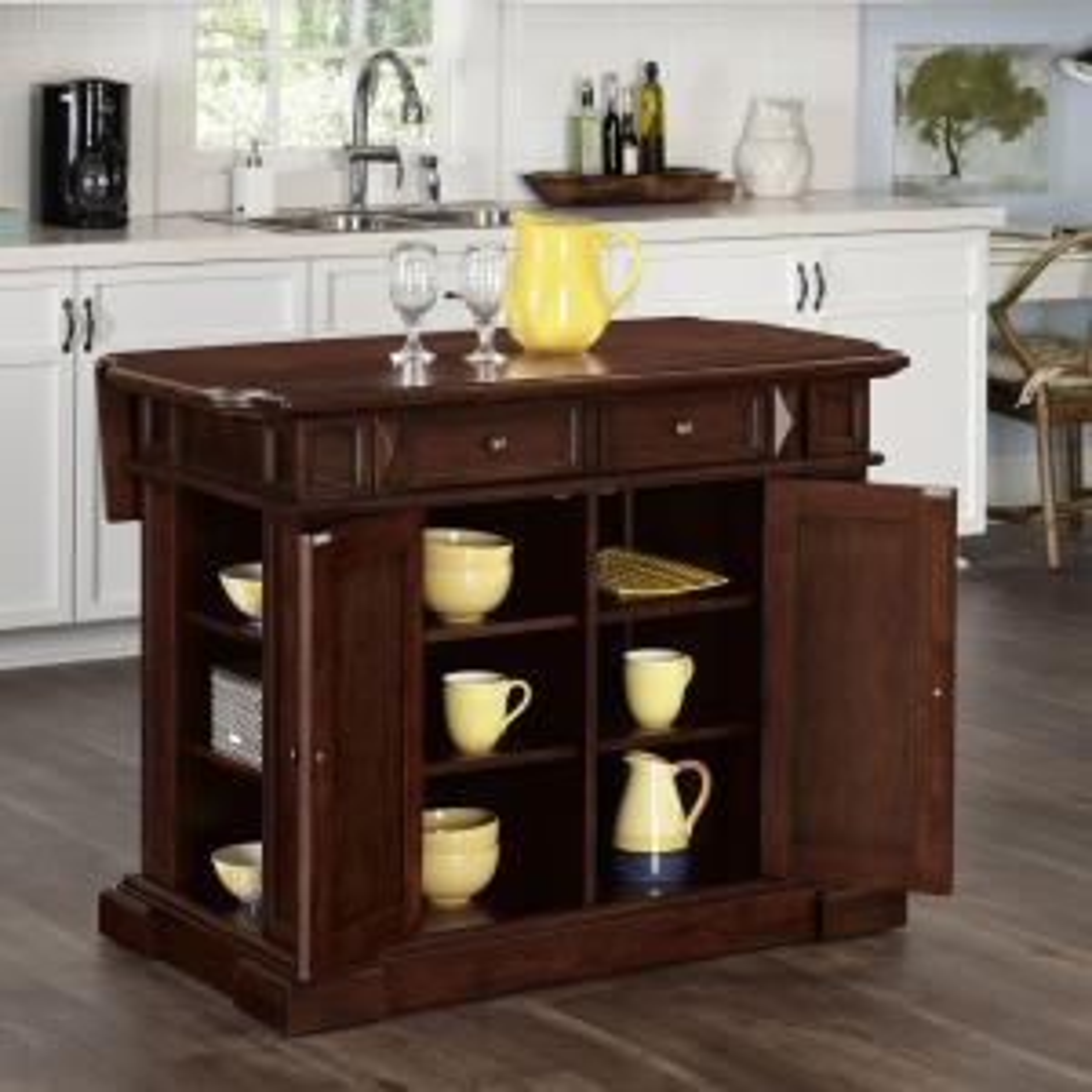 Click here to buy Americana Cherry Kitchen Island With Storage by Americana.