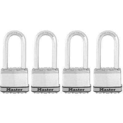 Magnum 2 in. Laminated Steel Padlock with 2-1/2 in. Shackle (4-Pack)