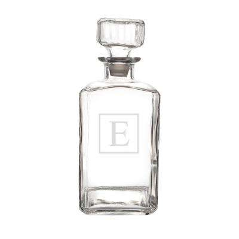 Personalized Glass Decanter - E
