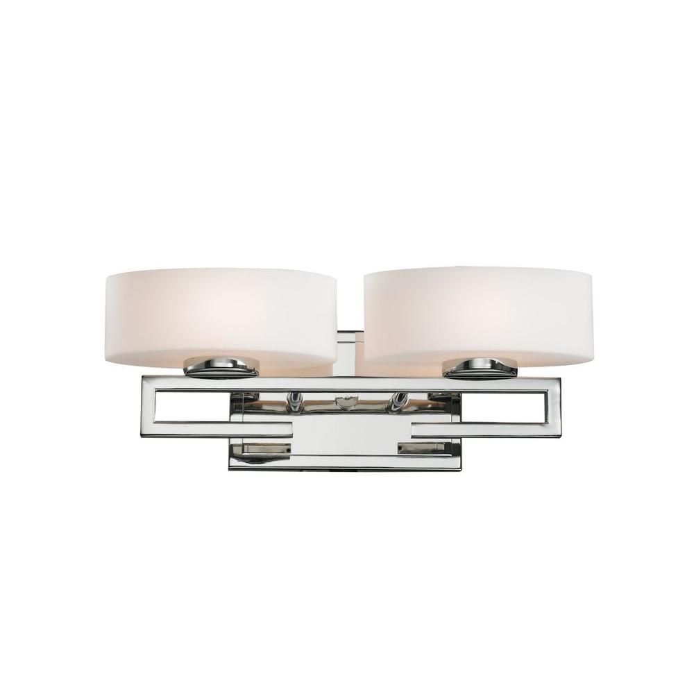 Filament Design Antonia 2-Light Chrome Halogen Bath Vanity Light