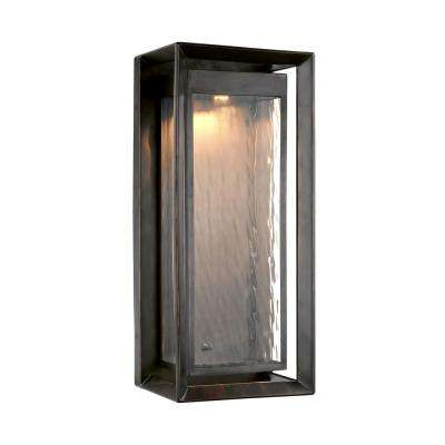 Urbandale 1-Light Antique Bronze Outdoor Integrated LED Wall Mount Lantern