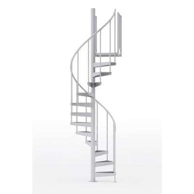 Condor White 42 in. (3 ft. 6 in.) Wide 10 Treads with Two 36 in. H Platform Rails Spiral Stair Kit