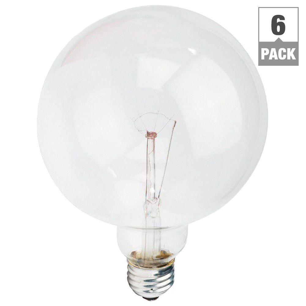 DuraMax 60-Watt Incandescent G40 Clear Long Life Globe Light Bulb (6-Pack)