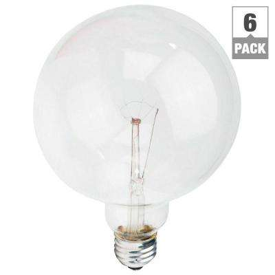 DuraMax 60-Watt Incandescent G40 Clear Long Life Globe Light Bulb (6-Pack)