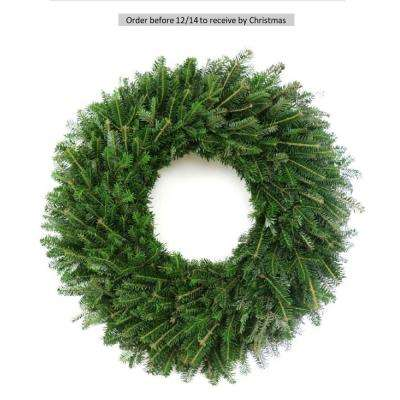 28 in. Fresh Evergreen Fraser Fir Christmas Wreath (Live)