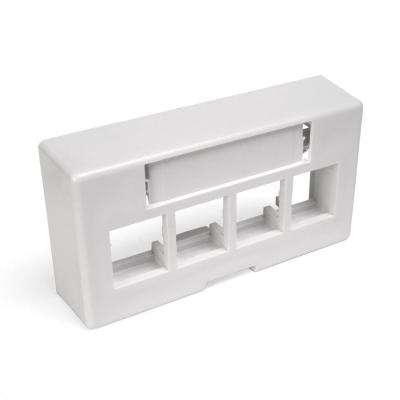 QuickPort 4-Port Modular Furniture Extended Depth Faceplate, White