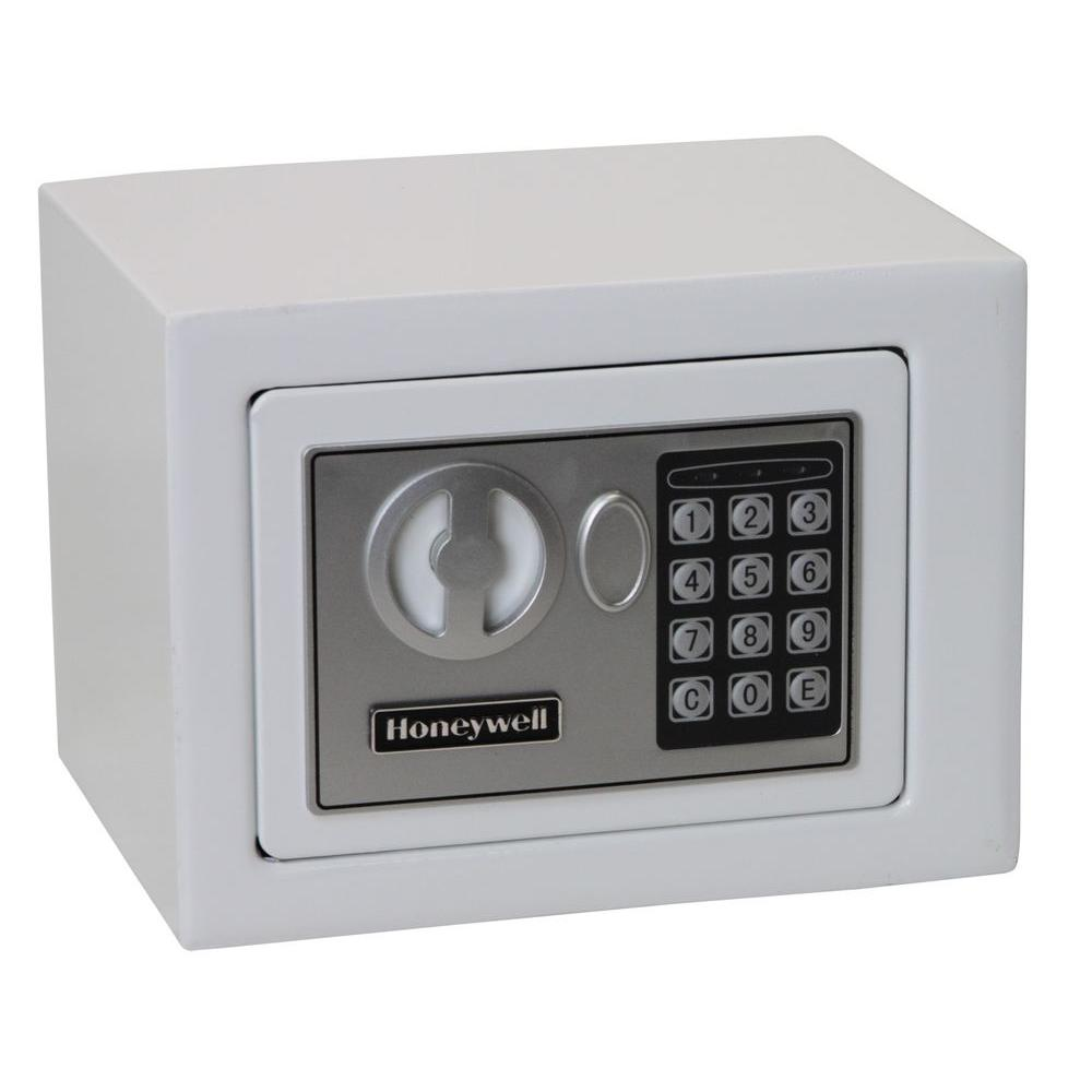 Honeywell Honeywell 0.17 cu. ft. Small Steel Security Safe with Programmable Digital Lock, White