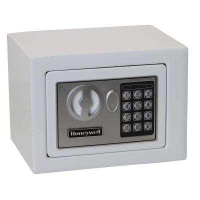 0.17 cu. ft. Small Steel Security Safe with Programmable Digital Lock, White