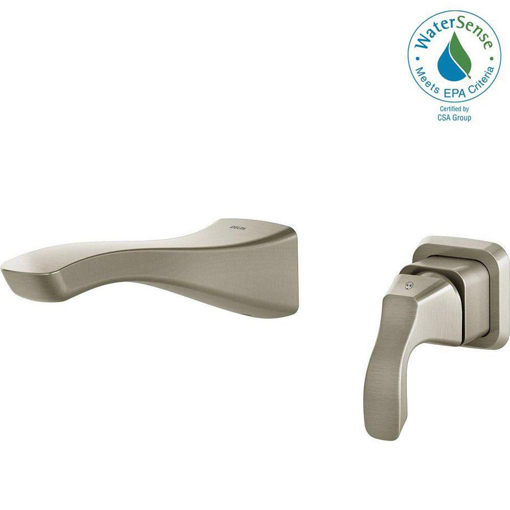Tesla Single-Handle Wall Mount Bathroom Faucet Trim Kit in Stainless (Valve