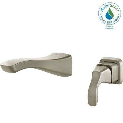 Tesla Single-Handle Wall Mount Bathroom Faucet Trim Kit in Stainless (Valve Not Included)