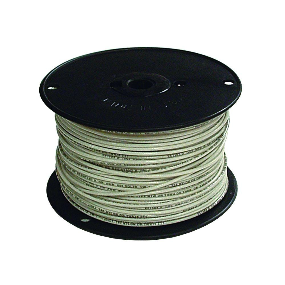 Southwire 500 ft. 14 White Solid CU THHN Wire-11580858 - The Home Depot