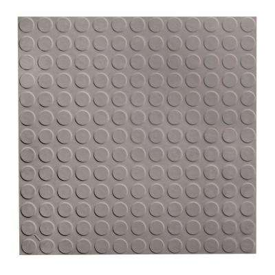 Low Circular Profile 19.69 in. x 19.69 in. Slate Rubber Tile