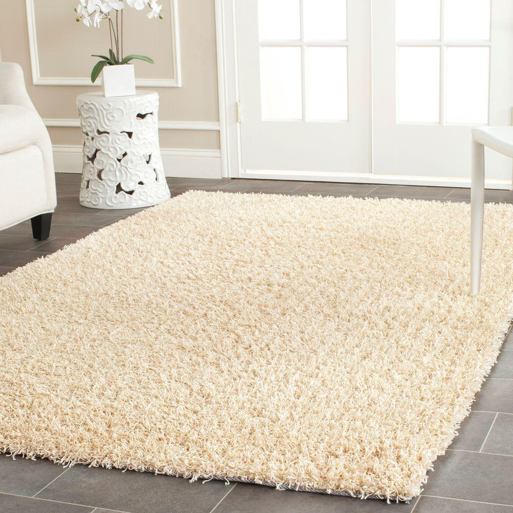 Monterey Shag Cream 5 ft. x 8 ft. Area Rug