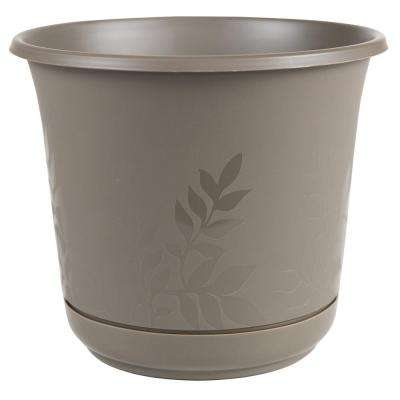 Plastic - Brown - Attached Saucer - Plant Pots - Planters - The Home ...