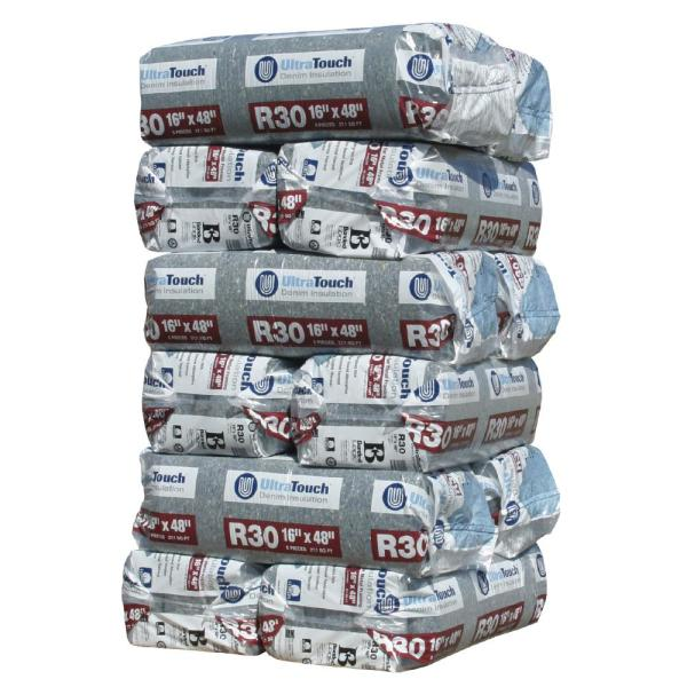 R-30 Denim Insulation Batts 16.25 in. x 48 in. (12-Bags)