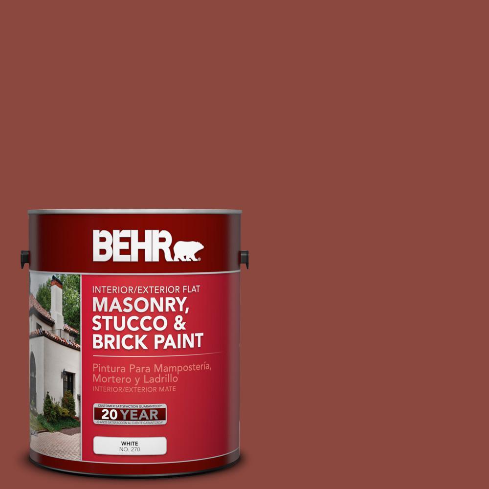 1 gal. #PFC-10 Deep Terra Cotta Flat Interior/Exterior Masonry, Stucco and Brick Paint