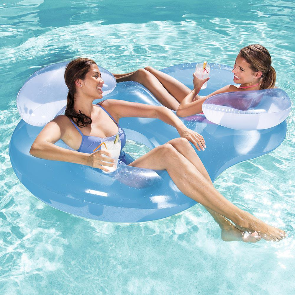 Double Ring Floating Lounge for Swimming Pools