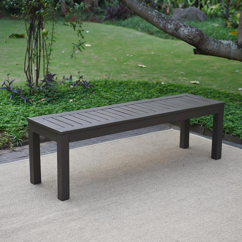 Cambridge Casual Braga Wood Outdoor Backless Bench
