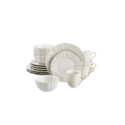 Aubrey 16-Piece Ivory Stoneware Dinnerware Set (Service for 4)