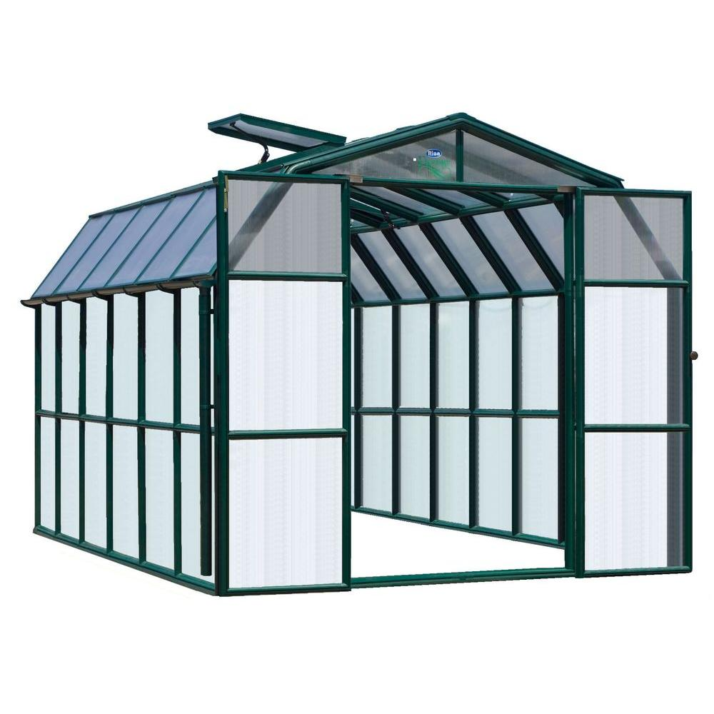 Rion Prestige Clear 8 ft. 6 in. x 12 ft. 7 in. Premium Package Greenhouse-DISCONTINUED