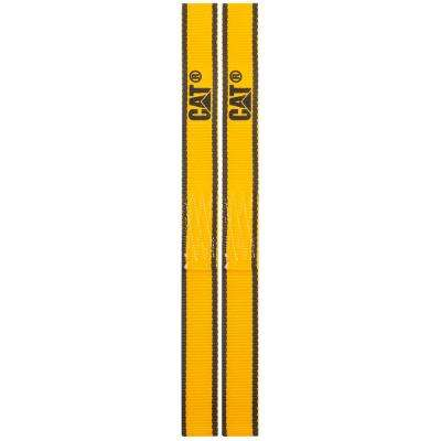 12 in. x 1 in. 800 lbs. Load Capacity Soft Loop Tie-Down Straps in Yellow (2-Piece)